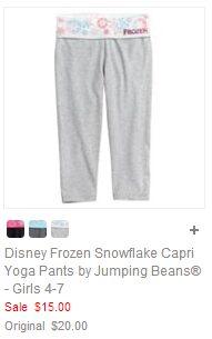 Disney Frozen Snowflake Capri Yoga Pants by Jumping Beans - Girls 4-7