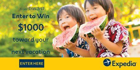 Win $1000 from Expedia & Savings.com – 3 Winners!
