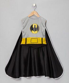 Gray & Black Bat Smock Cape
