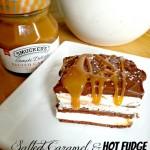Salted Caramel & Hot Fudge Ice Cream Cake (Super Easy) & Peanut Butter & Chocolate Version Too!