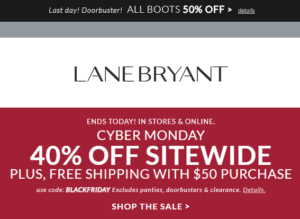 Lane Bryant Coupon Code