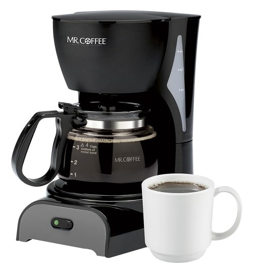 Mr. Coffee 4 Cup Coffeemaker $9.99! (Today Only)