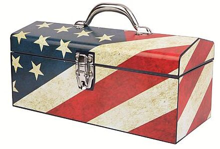 Old Glory Art Deco Tool Box