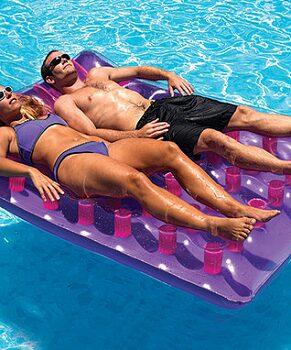 Purple Double Floating Pool Raft