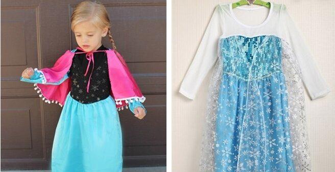 Frozen Inspired Dresses – Elsa & Anna Costume Dresses for $14.99