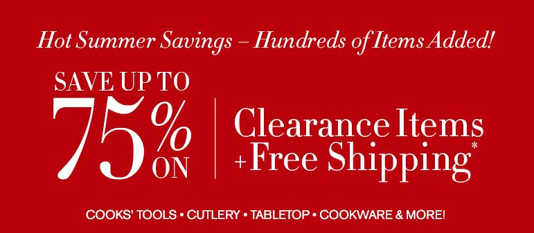 Williams Sonoma Clearance Sale – Free Shipping & Up to 75% off Clearance Prices