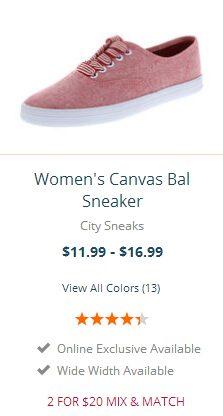 Women's Canvas Bal Sneaker