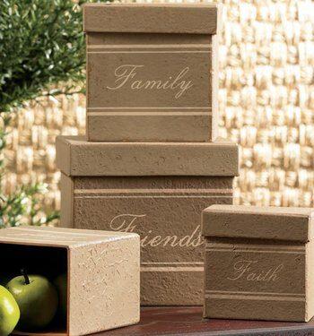 Decorative Boxes Set Of 3 Faith, Family & Friends $9.99 Shipped!