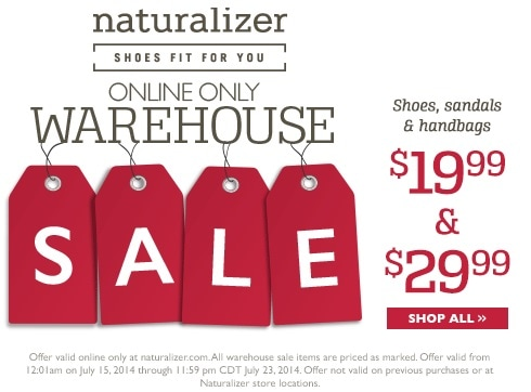 naturalizer warehouse sale