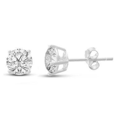 2CT DIAMOND SIZE CUBIC ZIRCONIA STUD EARRINGS