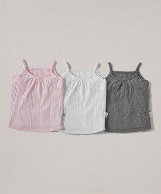 Blossom & Storm Ribbed Organic Camisole Set - Infant & Toddler