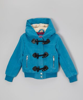 Blue Hooded Bomber Coat - Infant, Toddler & Girls