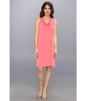 Calvin Klein Solid Zipper Dress