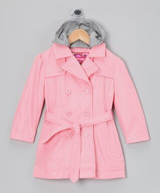 Candy Pink Trench Coat - Toddler & Girls