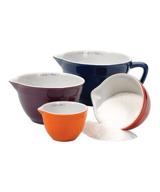 Ceramic Batter Bowl Measuring Cup Set