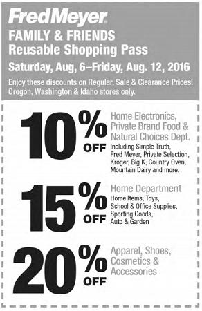 Fred Meyer Friends & Family Pass