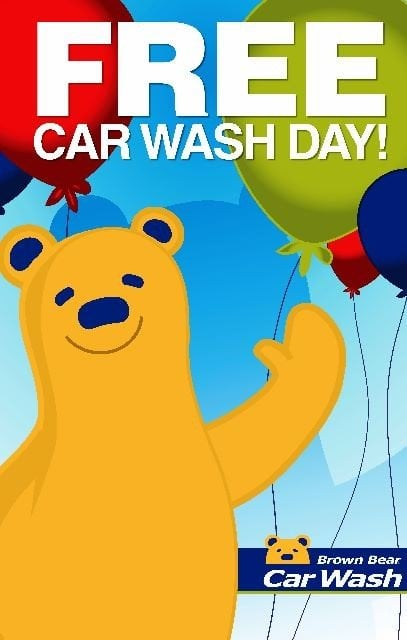 Free car wash from Brown Bear