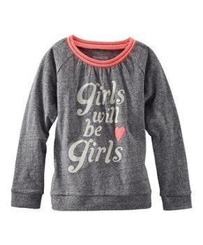 Heather Gray 'Girls Will Be Girls' Tee - Girls