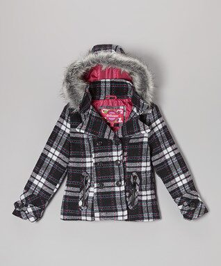Jeanie Plaid Wool Hooded Coat - Infant, Toddler & Girls