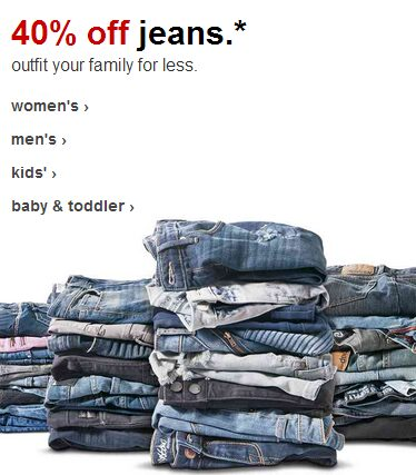 Jeans For The Family 40% OFF!