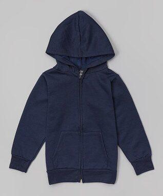 Navy Fleece Zip-Up Hoodie - Infant, Toddler & Boys