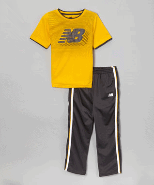 Navy & Gold Tee & Track Pants