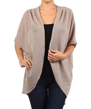 Oatmeal Tapered Open Cardigan