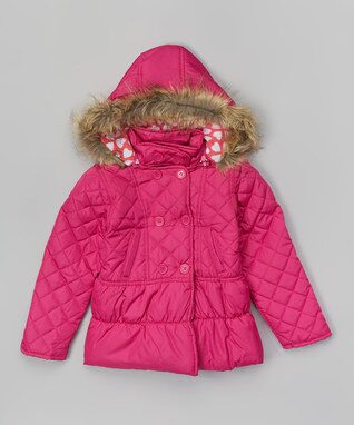 Raspberry Heart Puffer Coat - Infant, Toddler & Girls