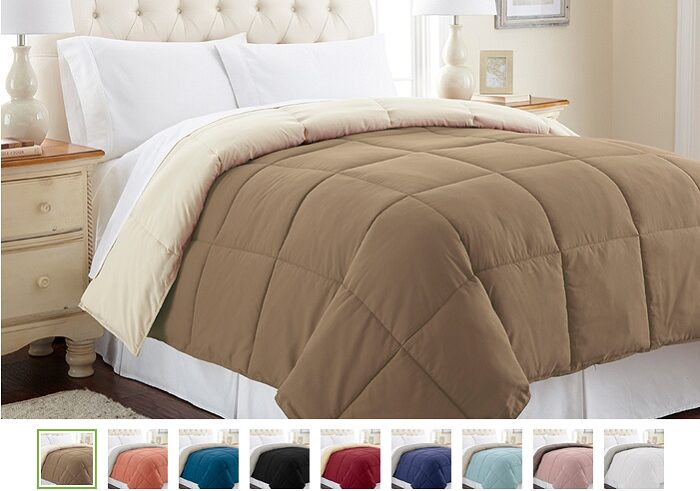 Reversible Down-Alternative Comforter As Low As $24.99!
