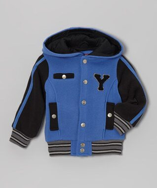 Royal Blue 'Y' Varsity Hooded Jacket