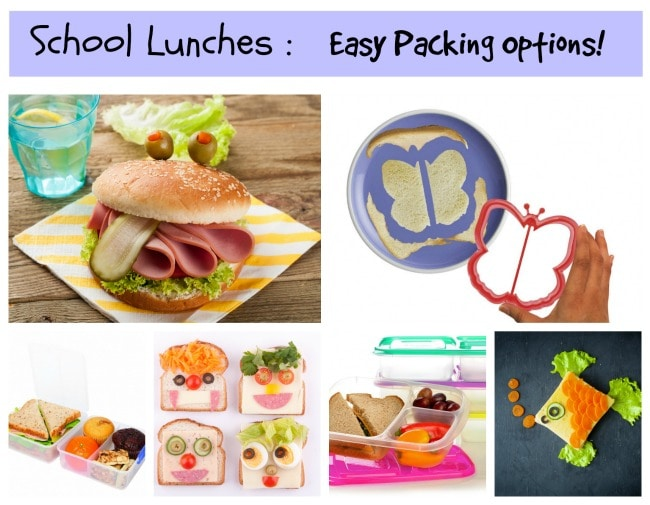 School Lunches Collage
