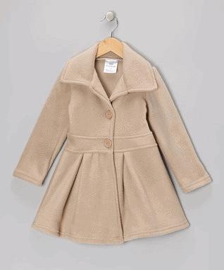 Tan Button Coat