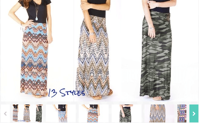 URBAN CHIC PRINT MAXI SKIRTs - 13 PATTERNS