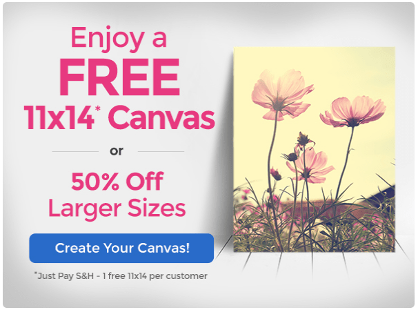 Canvas People: FREE Photo Canvas – Just Pay Shipping (around $15)!