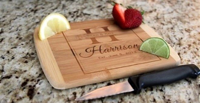 Personalized Cocktail Bamboo Cutting Boards Only $9.99!