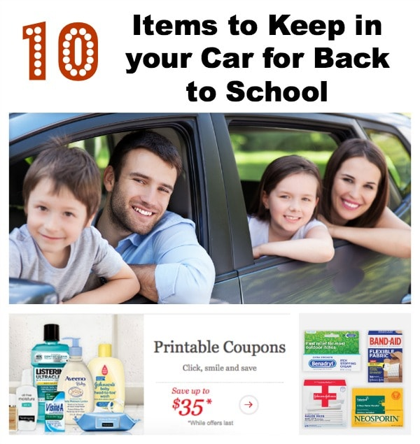 10 Healthy Essentials in your Car for Back to School