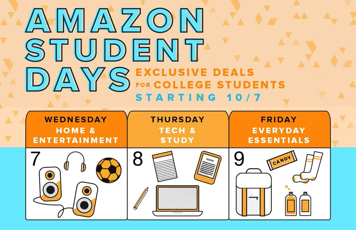 amazon student days get special discounts free amazon