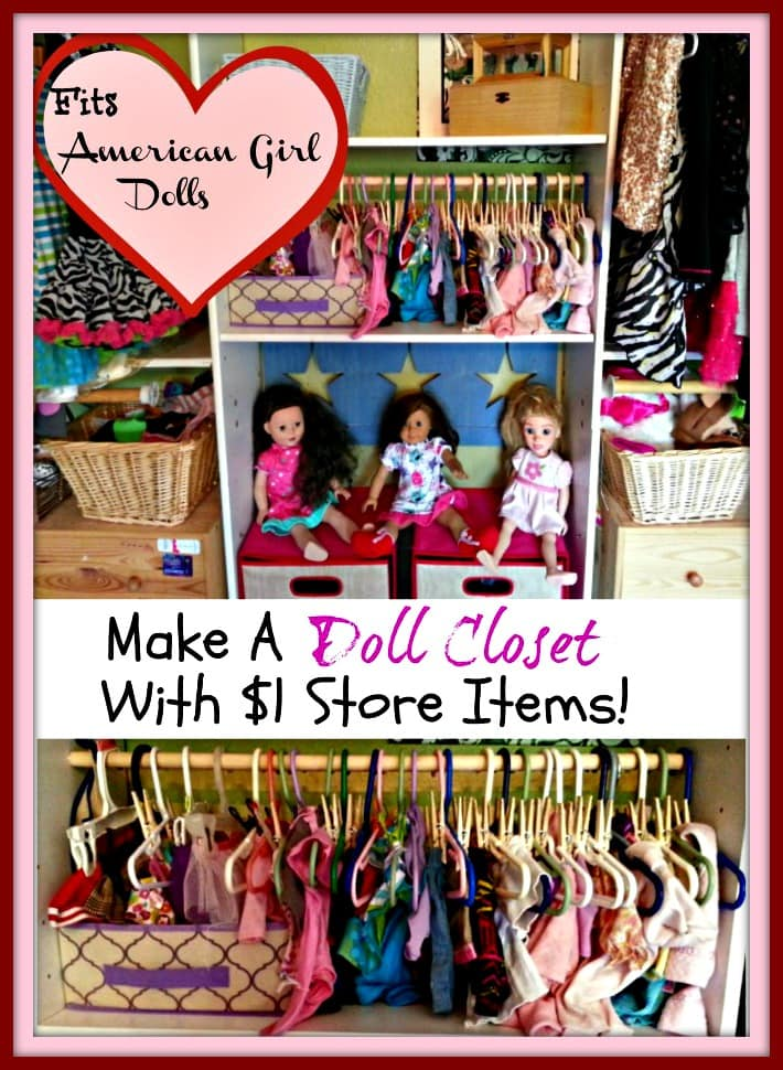 Making A Doll Clothes Closet With Dollar Store Items