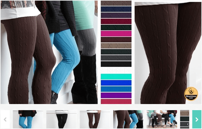 Cable Textured Leggings