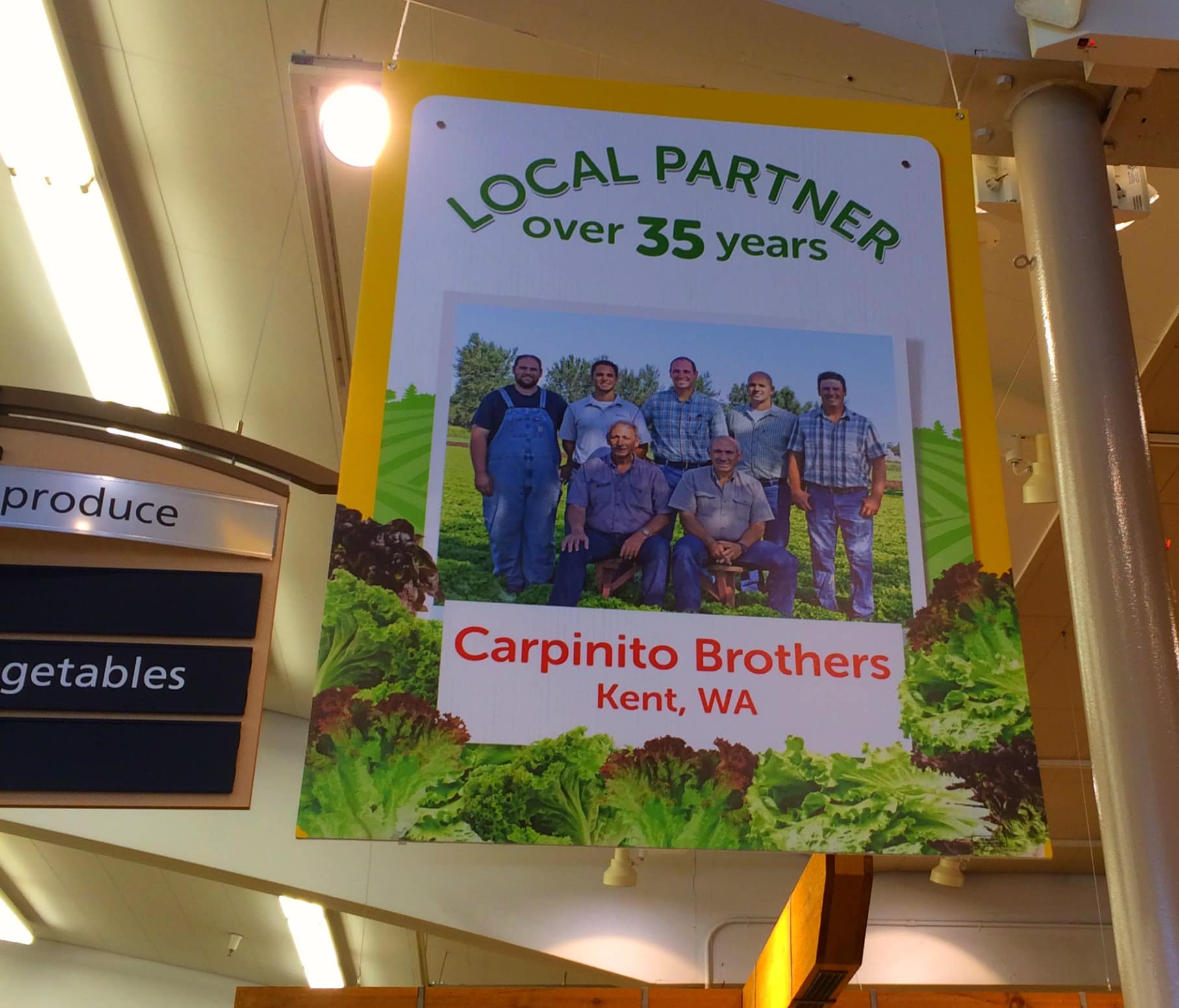 Sign in Safeway for Carpinito Bros Farms
