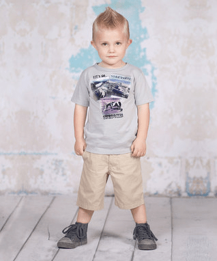 Gray Somewhere Awesome Tee & Shorts
