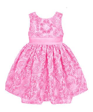 Ice Pink Flower Medallion Dress & Bloomers - Infant