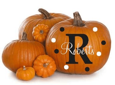 Personalize Your Pumpkin Decals $6.50