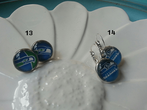Seahawks Football Earrings $5.99 Other Teams Too!