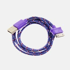3-Foot Braided 30-Pin to USB for iPhone 4