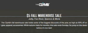 Big Warehouse Sale On The Clymb