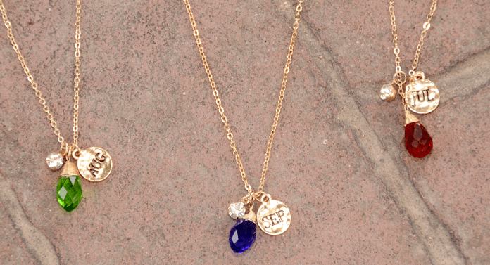 Birthstone Necklace Only $4.99 With FREE Shipping