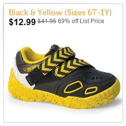 Black & Yellow Hot Wheels Shoes