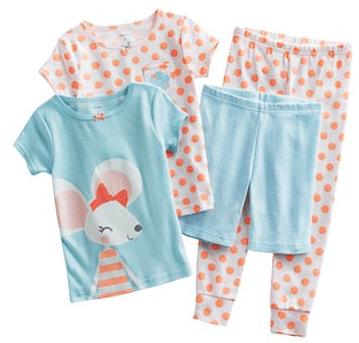 Carter's Mouse Pajamas Set 4 Piece $9.60!