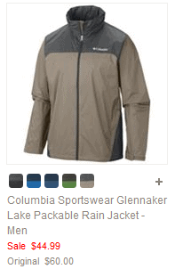 Columbia Sportswear Glennaker Lake Packable Rain Jacket